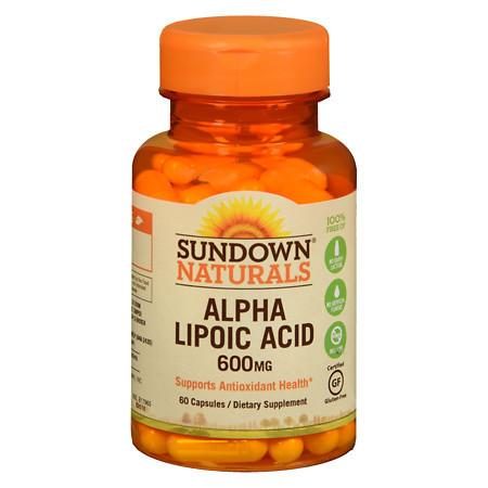 Sundown Naturals Super Alpha Lipoic Acid, 600mg, Capsules - 60 ea