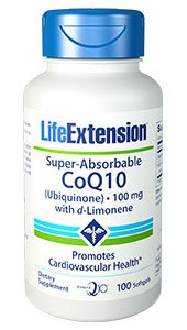 Super-Absorbable CoQ10 (Ubiquinone) with d-Limonene, 100 mg, 100 softgels