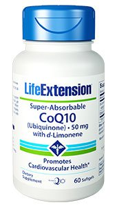 Super-Absorbable CoQ10 (Ubiquinone) with d-Limonene, 50 mg, 60 softgels
