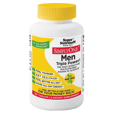 Super Nutrition Simply One MultivitaminMineral Supplement Tablets - 90 ea