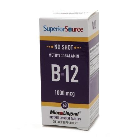 Superior Source No Shot Methylcobalamin B12 1,000mcg, Dissolve Tablets - 60 ea