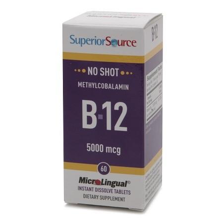 Superior Source No Shot Methylcobalamin B12 5000mcg, Dissolve Tablets - 60 ea