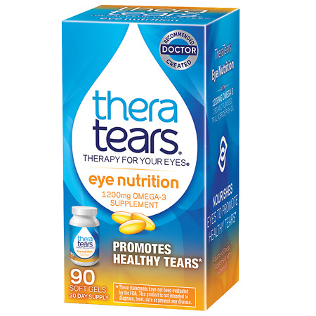 TheraTears Nutrition Omega-3 1200 mg Dietary Supplement Capsules - 90 ea