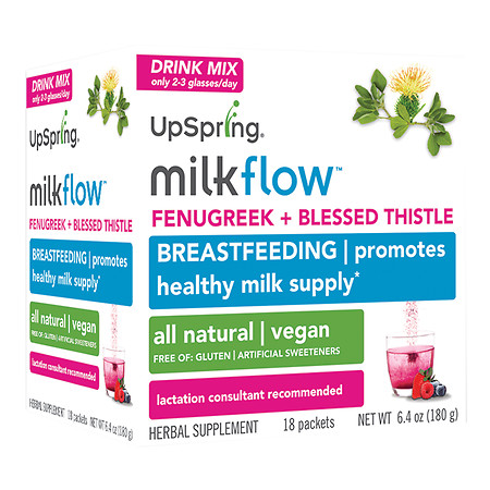 UpSpring Milkflow Fenugreek Mix Berry - 18 ea