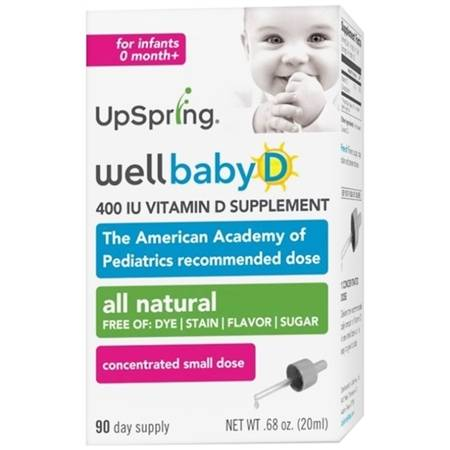 UpSpring Wellbaby D Infant Vitamin D Drops - 0.34 oz.