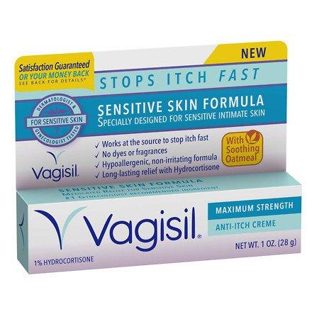 Vagisil Sensitive Skin Formula Maximum Strength Anti-Itch Creme with Oatmeal - 1 oz.