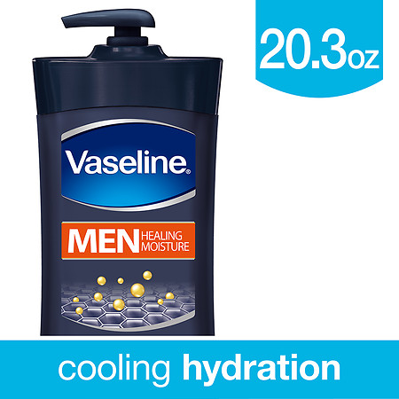 Vaseline Men Healing Moisture Body Lotion - 20.3 oz.