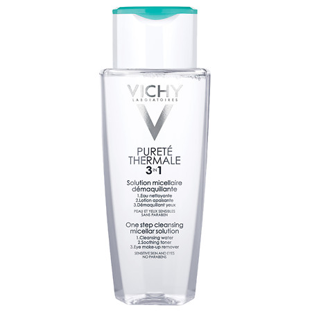 Vichy Purete Thermale Face Cleanser with Micellar Water and Makeup Remover - 6.76 oz.