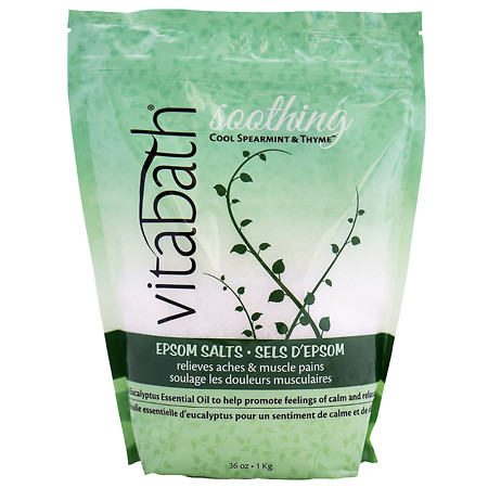 Vitabath Cool Spearmint & Thyme Epsom Salts - 36 oz.