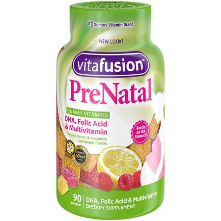 Vitafusion PreNatal, Adult Vitamins, Gummies Lemon & Raspberry Lemonade - 90 ea