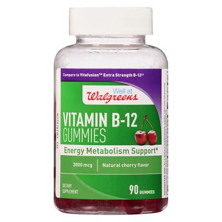 Walgreens B12 3000 mcg Gummies Extra Strength - 90 ea