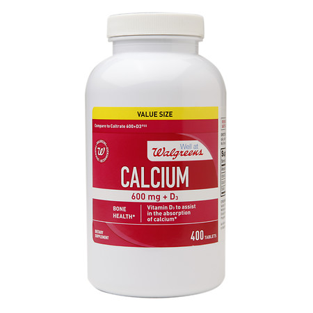 Walgreens Calcium 600 mg + D3, Tablets - 400 ea