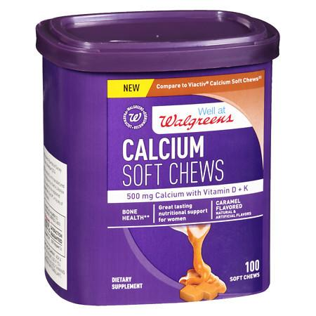 Walgreens Calcium Soft Chews Caramel - 100 ea