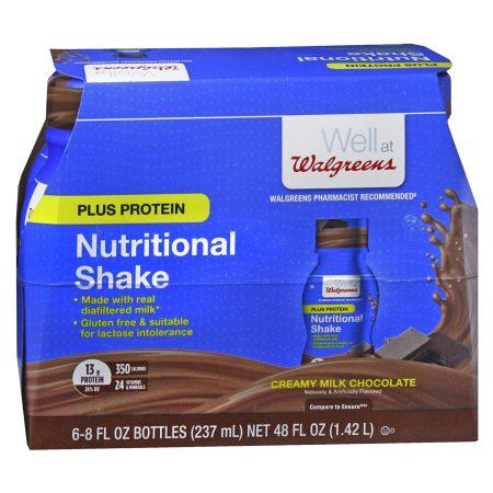 Walgreens Complete Nutritional Shake Plus Protein Milk Chocolate - 8 oz.