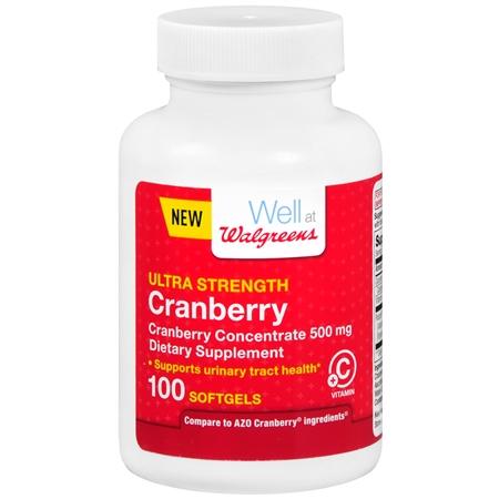 Walgreens Cranberry Ultra Strength With Vitamin C Softgels - 100 ea