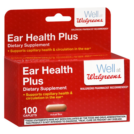 Walgreens Ear Health Plus Caplets - 100 ea