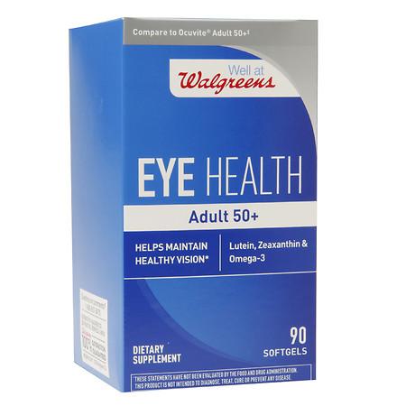 Walgreens Eye Health for Adults 50+, Softgels - 90 ea