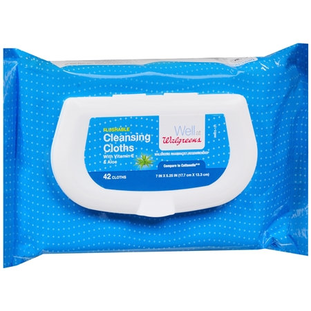 Walgreens Flushable Cleansing Cloths - 42 ea