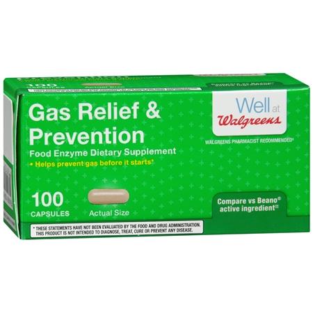 Walgreens Gas Relief & Prevention, Capsules - 100 ea