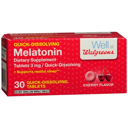 Walgreens Melatonin, Quick Dissolve Tablets Cherry - 30 ea