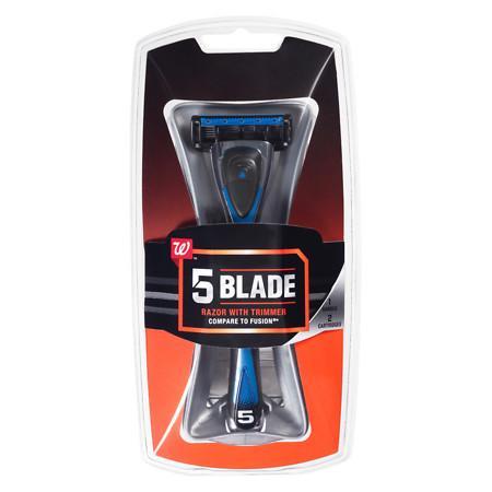 Walgreens Men's 5 Blade Razor With Trim Kit - 1 ea