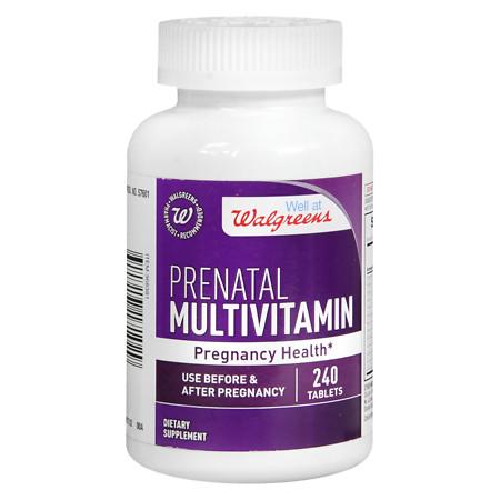 Walgreens Prenatal Multivitamin Pregnancy Health, Tablets - 240 ea