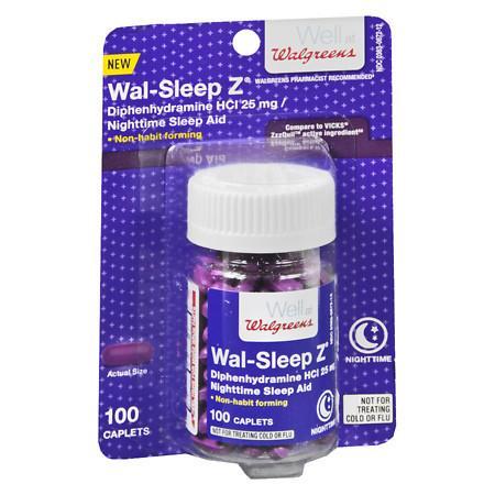 Walgreens Sleep Z Caplets - 100 ea