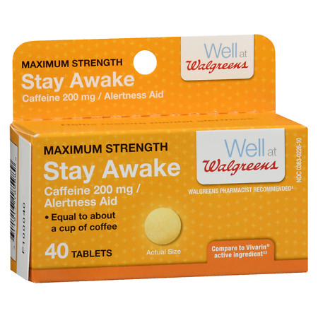 Walgreens Stay Awake Max Strength Tabs - 40 ea