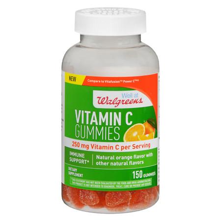 Walgreens Vitamin C 250 mg Gummies Orange - 150 ea