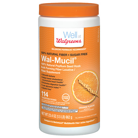 Walgreens Wal-Mucil Bulk Forming Fiber LaxativeFiber Supplement Powder - 23.4 oz.