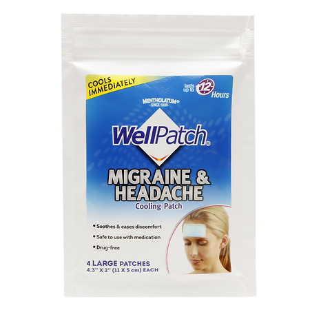 WellPatch Migraine & Headache Cooling Patch - 4 ea
