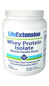 Whey Protein Isolate (Natural Vanilla Flavor), 403 grams (0.89 lb. or 14.22 oz.)