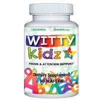 WittyKidz Natural Focus & Attention Supplement for Kids - 3 Month Supply