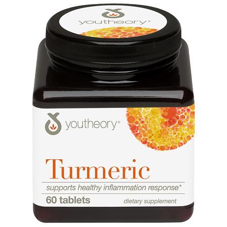 Youtheory Turmeric Tablets - 60 ea