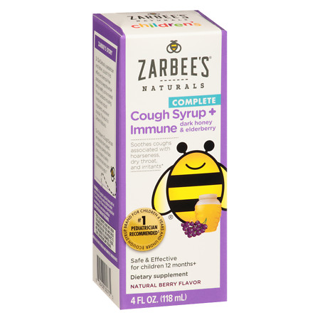 ZarBee's Naturals Children's Cough Plus Immune Support Cough Syrup Berry - 4 oz.