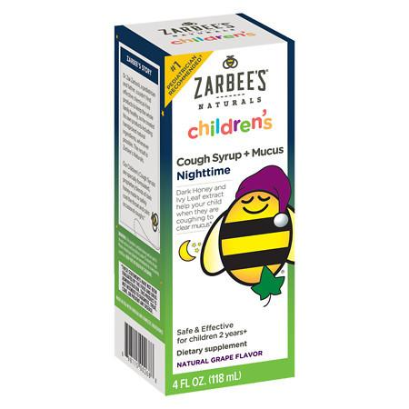 ZarBee's Naturals Children's Cough Syrup + Mucus - 4 oz.