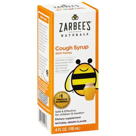 ZarBee's Naturals Children's Cough Syrup Natural Grape Flavor - 4 fl oz