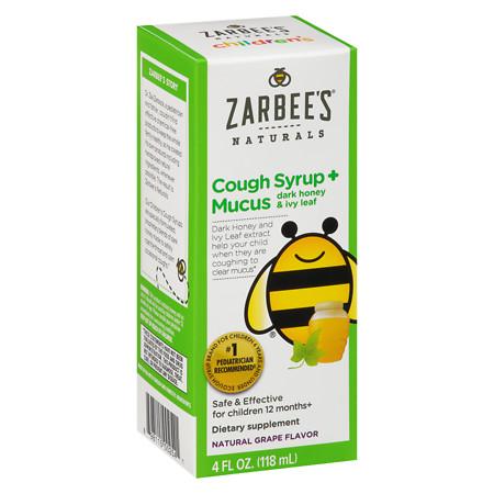 ZarBee's Naturals Children's CoughMucus Relief Liquid Grape - 4 oz.