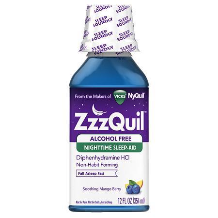 ZzzQuil Alcohol Free Nighttime Sleep Aid - 12 oz.