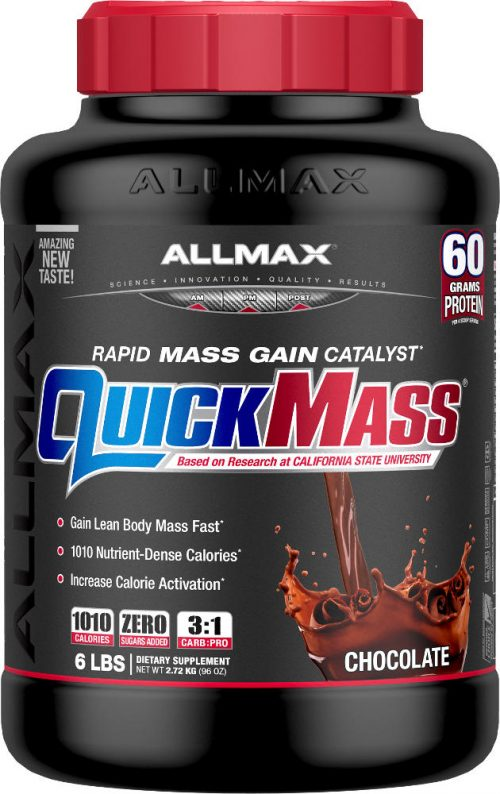 AllMax Nutrition QuickMass Loaded - 6lbs Chocolate Peanut Butter