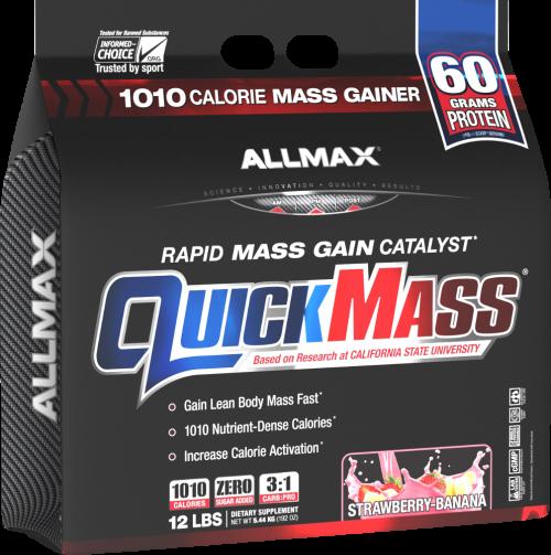 AllMax Nutrition QuickMass Loaded - 6lbs Strawberry Banana