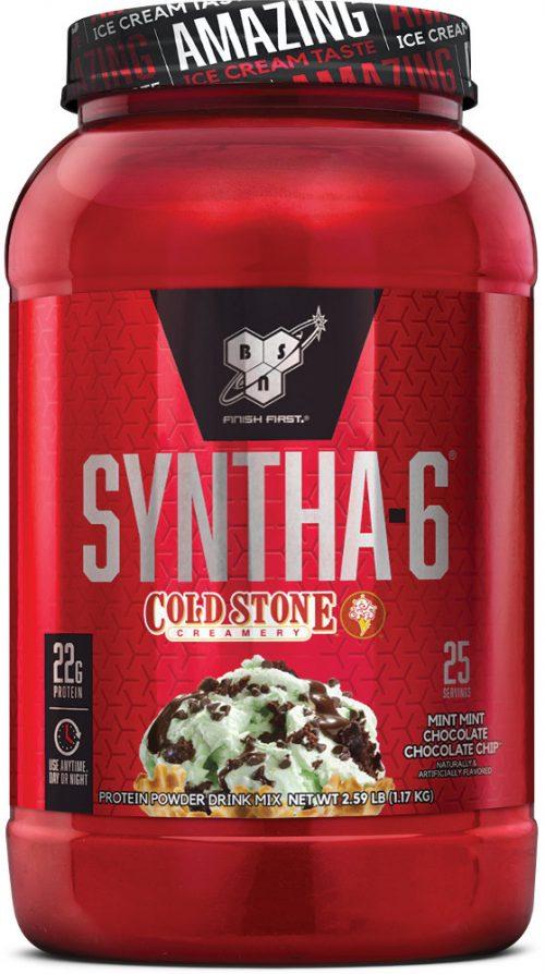 BSN Syntha-6 - Cold Stone Creamery 2.59lbs Mint Mint Chocolate Chocola
