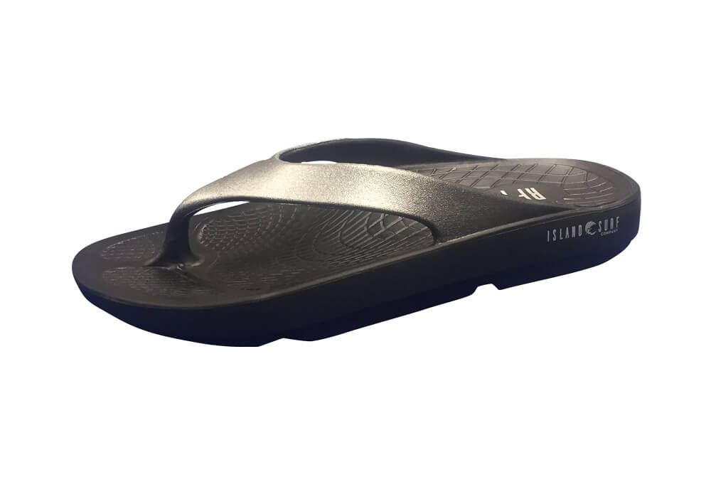 Island Surf Company Wave Sandals - Women's - black/silver, 11