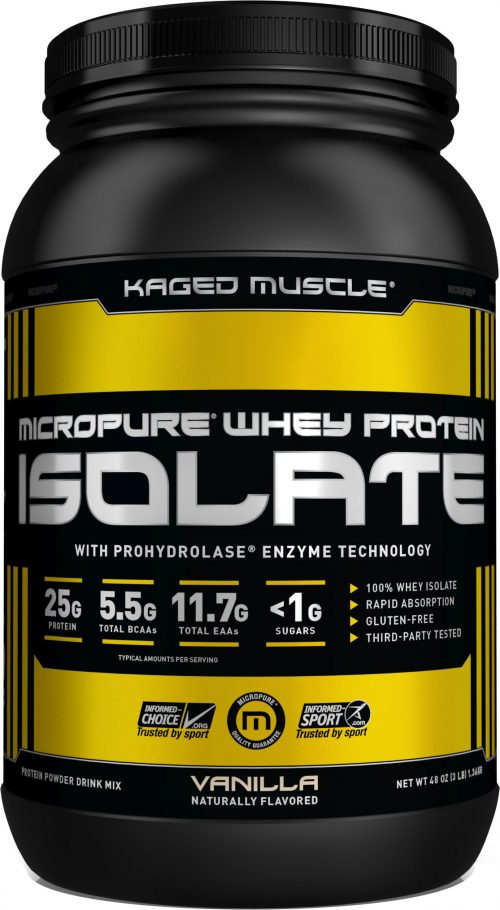Kaged Muscle Micropure Whey Protein Isolate - 3lbs Vanilla