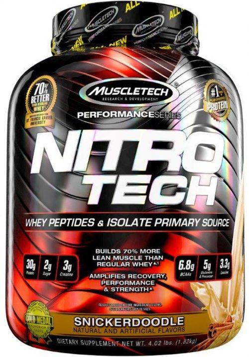 MuscleTech Nitro-Tech - 4lbs Snickerdoodle