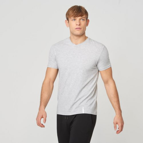 Myprotein Luxe Touch V Neck Short Sleeve T-Shirt - Grey Marl - XS
