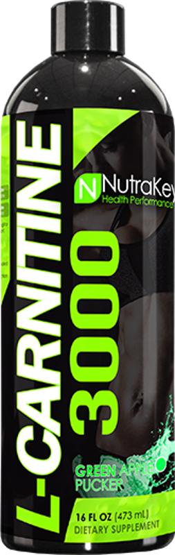 NutraKey L-Carnitine 3000 - 16oz Green Apple