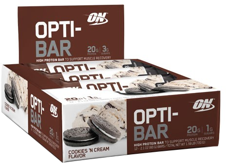 Optimum Nutrition Opti-Bar - Box of 12 Cookies & Cream
