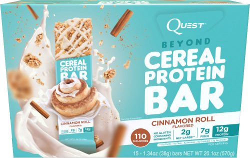 Quest Nutrition Beyond Cereal Bar - Box of 15 Cinnamon Roll