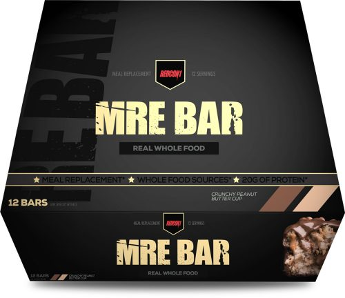 RedCon1 MRE Bar - 12 Bars Crunchy Peanut Butter Cup